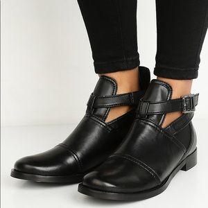 Armani Exchange Ankle Strap Boots Black Size 8